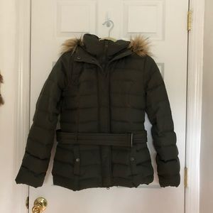 WOMENS OLIVE GREEN ABERCROMBIE WINTER COAT !